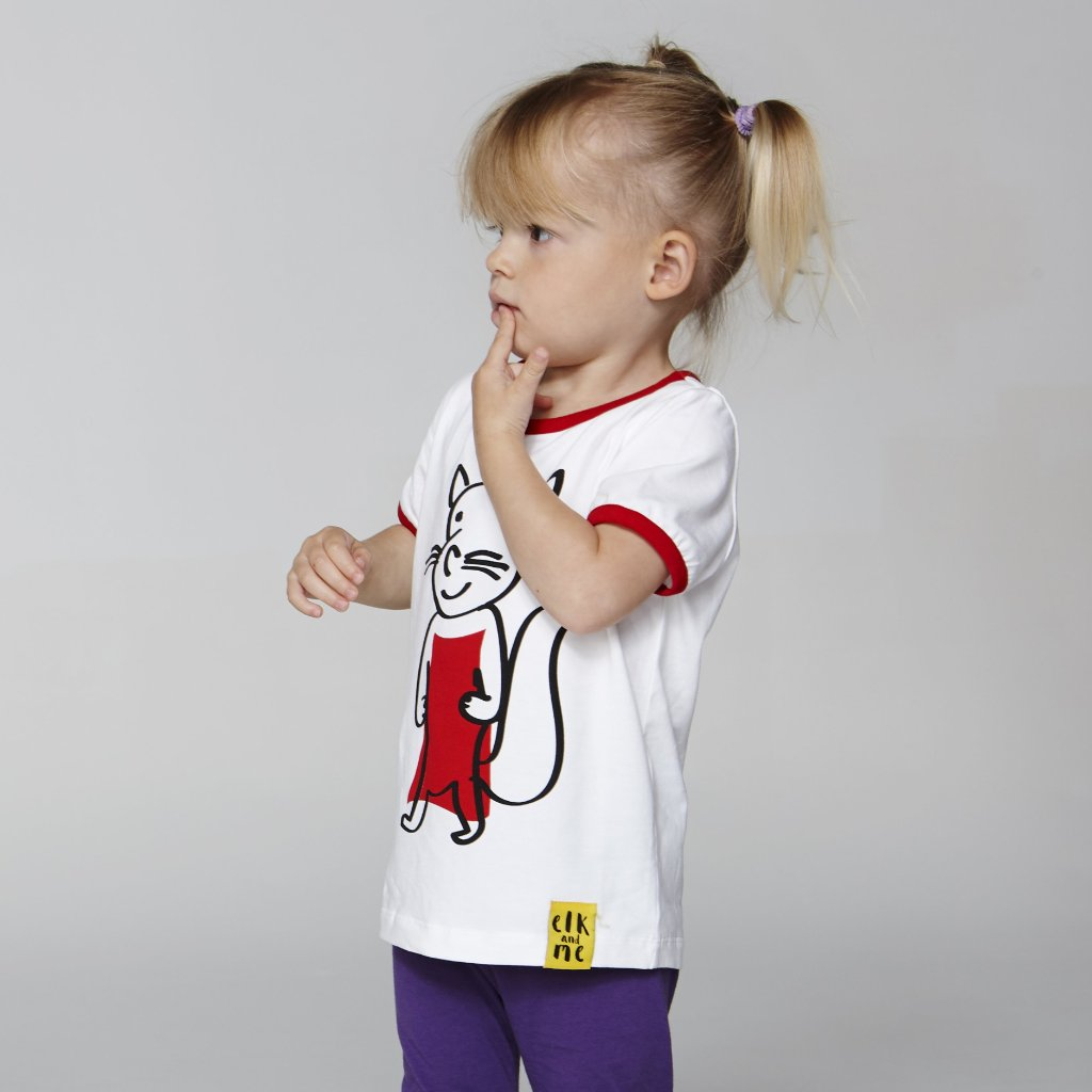 SQUIRREL TEE FOR GIRLS+BOYS