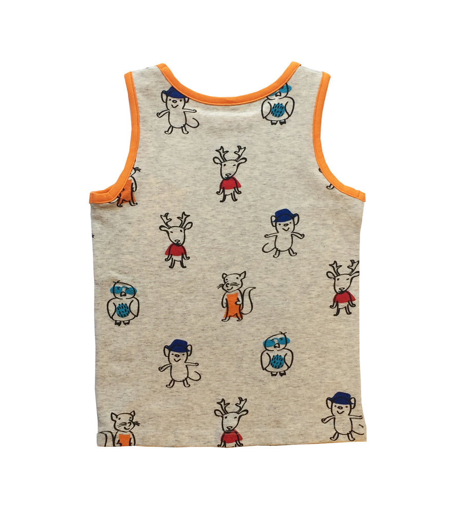 ELK AND FRIENDS SINGLET FOR GIRLS+BOYS
