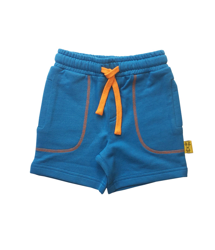 BLUE WITH ORANGE CONTRAST SHORT FOR GIRLS+BOYS