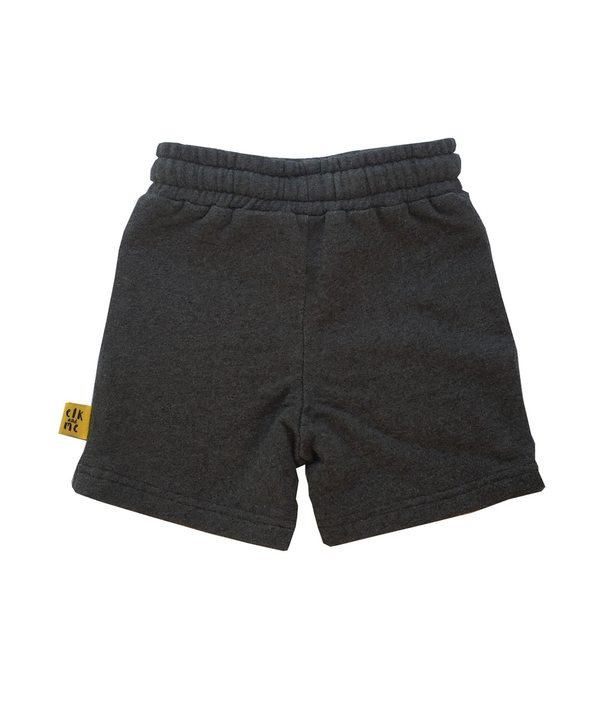 CHARCOAL WITH YELLOW CONTRAST SHORT FOR GIRLS+BOYS