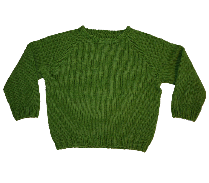KNITTED BY NANNA GREEN JUMPER