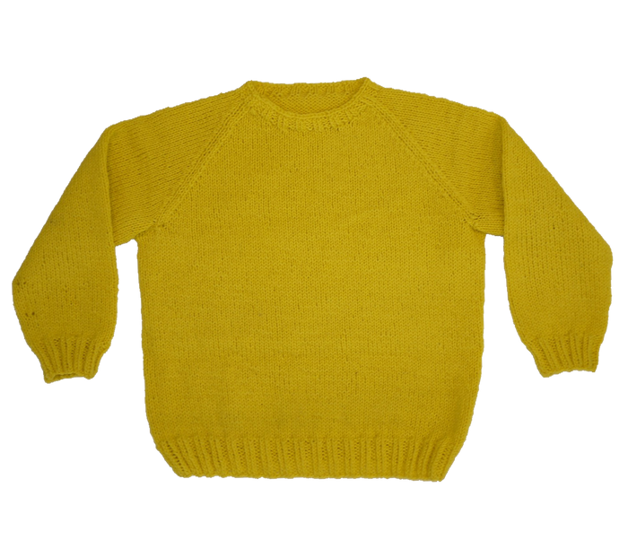 KNITTED BY NANNA YELLOW JUMPER