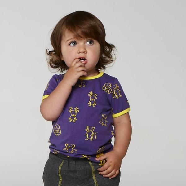 ELK AND FRIENDS PURPLE TEE FOR GIRLS+BOYS