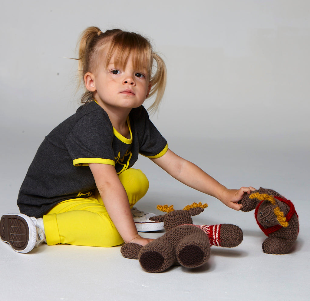 ELK DARK GREY MARLE TEE FOR GIRLS+BOYS