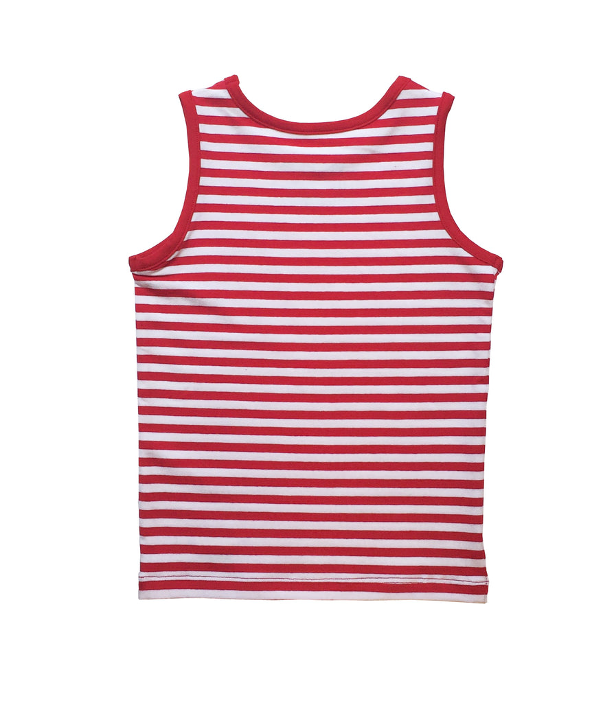 RED STRIPED SINGLET FOR GIRLS+BOYS