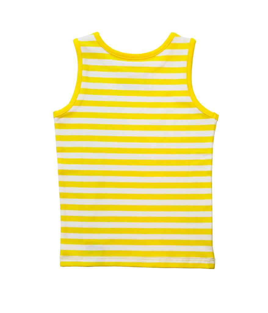 YELLOW STRIPED SINGLET FOR GIRLS+BOYS