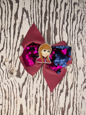 Embroidered Character Sequin Bows