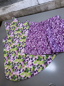 Violets Open-Back Top with Shorts