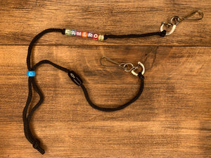 Custom Name Swivel Clip Mask Lanyards (With Breakaway Safety Clip)