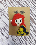 Embroidered Character Hair Clip Sets