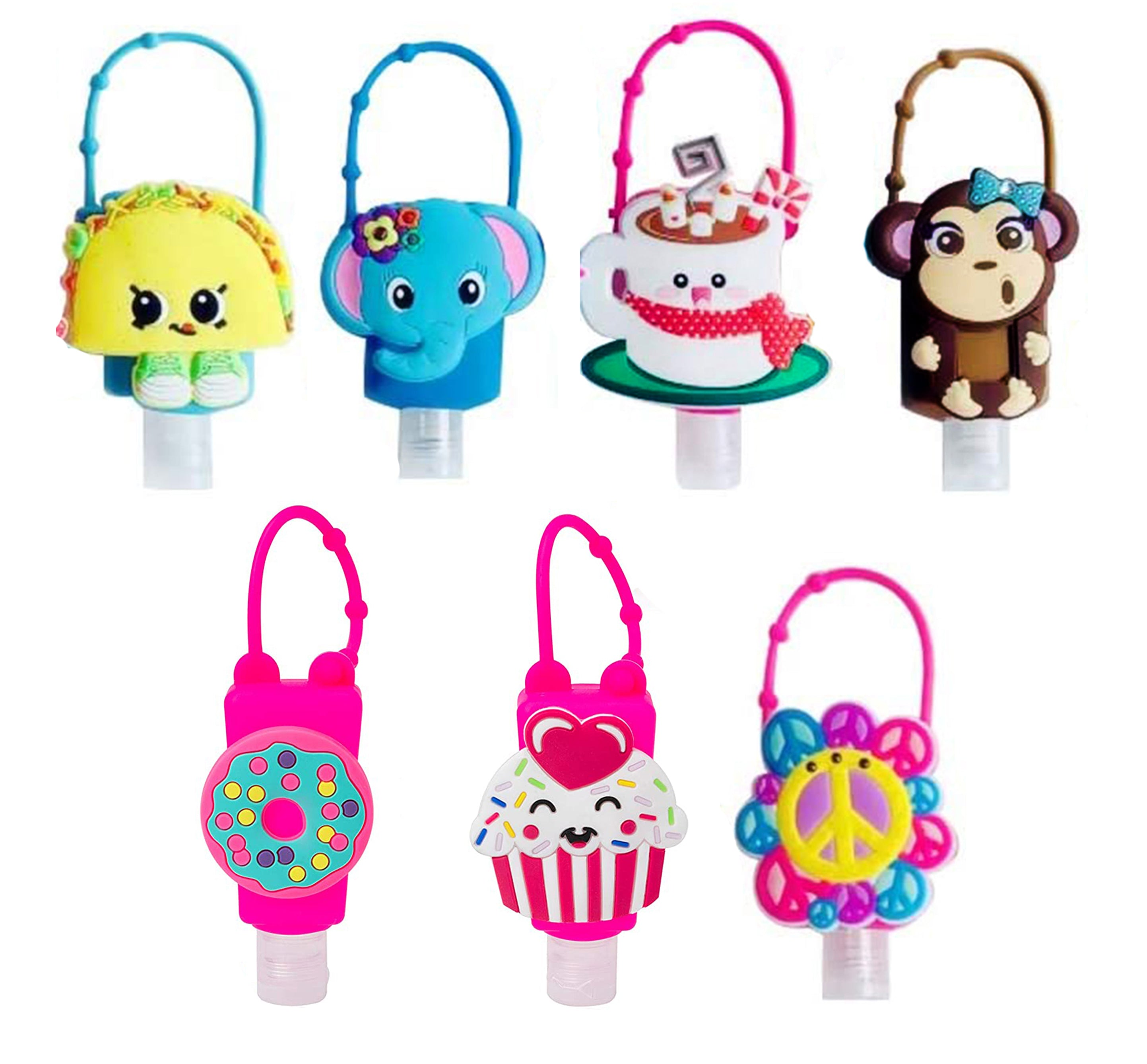 Character Sanitizer Key Chains