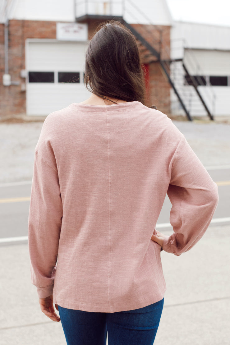 Henley Long Sleeve Top