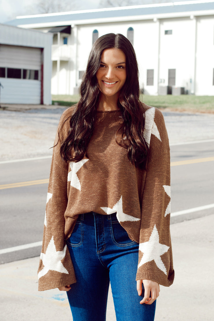Star Wide-Sleeved Sweater