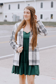 Striped Wool Jacket W/Pockets