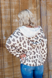 Leopard Print Hooded Sweater