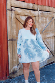 Tie Dye Lightweight Babydoll Dress PLUS
