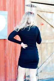 Long Sleeve BodyCon Sinched Waist Dress