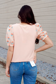 Sheer Puff Sleeve Top
