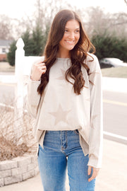 Mineral Wash Star Printed Top