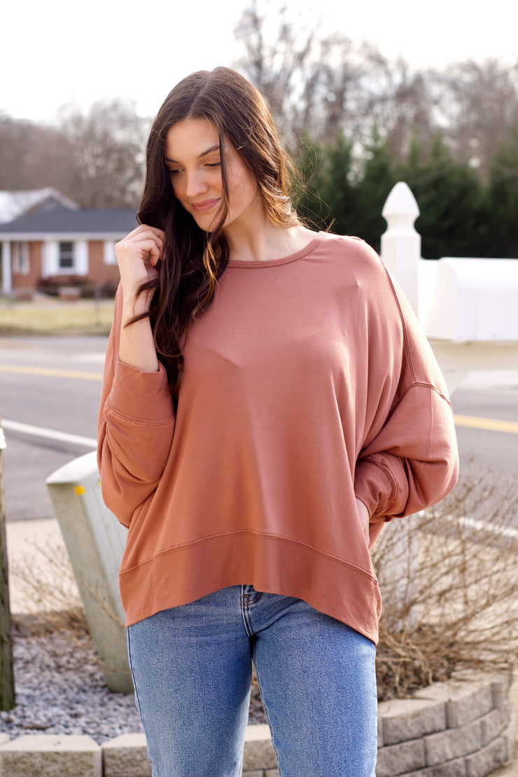 Reversible Long Batwing Sleeve Crossover