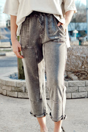Mineral Wash Terry Knit Pants