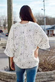 Star printed Button Up with Front Pockets