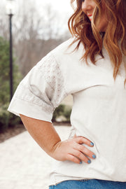 Short Sleeve Mineral Wash Top PLUS