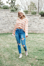Collared Knit Long Sleeve Top