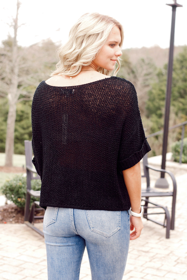 Half-Sleeve Sweater W/ Cuffs