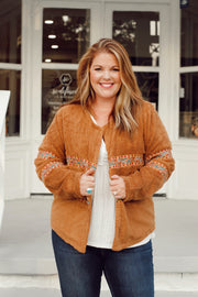 Camel Embroidered Jacket