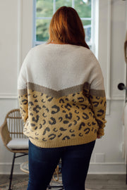 Leopard Colorblock Sweater