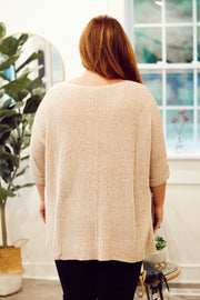 Knitted Half-Sleeve Sweater- PLUS