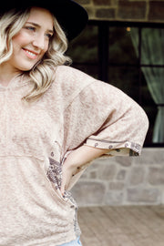 Long Sleeve Lightweight Paisley V Neck Top