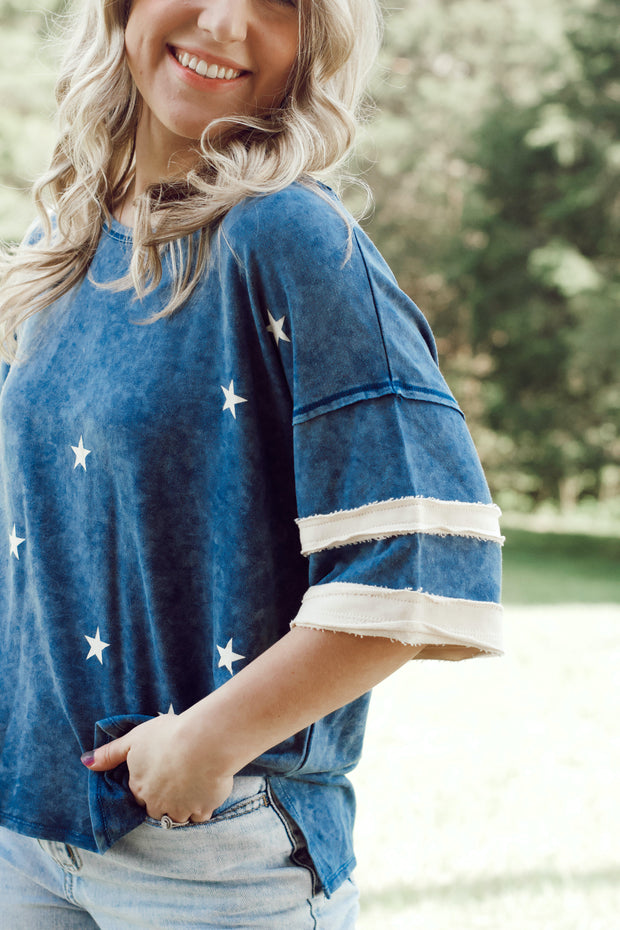 Mineral Washed Graphic Star Tee