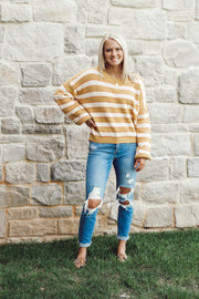 Horizontal Knitted Stripe Sweater