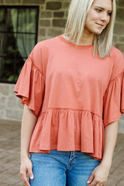 Casual Bell Sleeve Knit Top