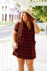 Rust Plaid Flannel Dress
