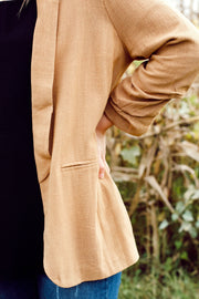 Long Sleeve Linen Blazer
