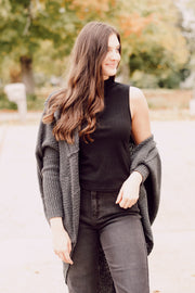Long Sleeve Wrap Open Cardigan