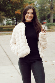 Puffy Faux Fur Jacket