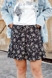 Floral Skirt W/ Front Tie