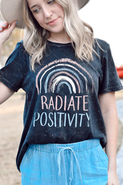 """Radiate Positivity"" Graphic Tee"