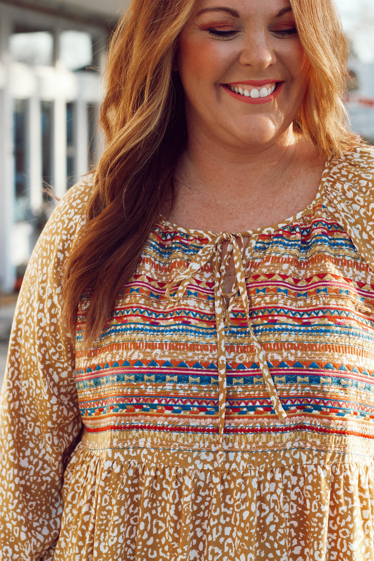 Embroidered Leopard Top PLUS