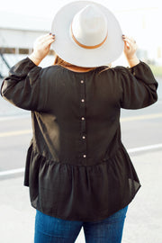 Solid Top w/Button Back Detail