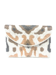 Maran Animal Print Beaded Mini Crossbody