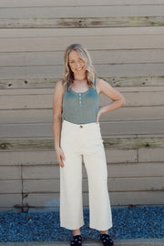 Cropped High-Rise Wide-Leg Pants