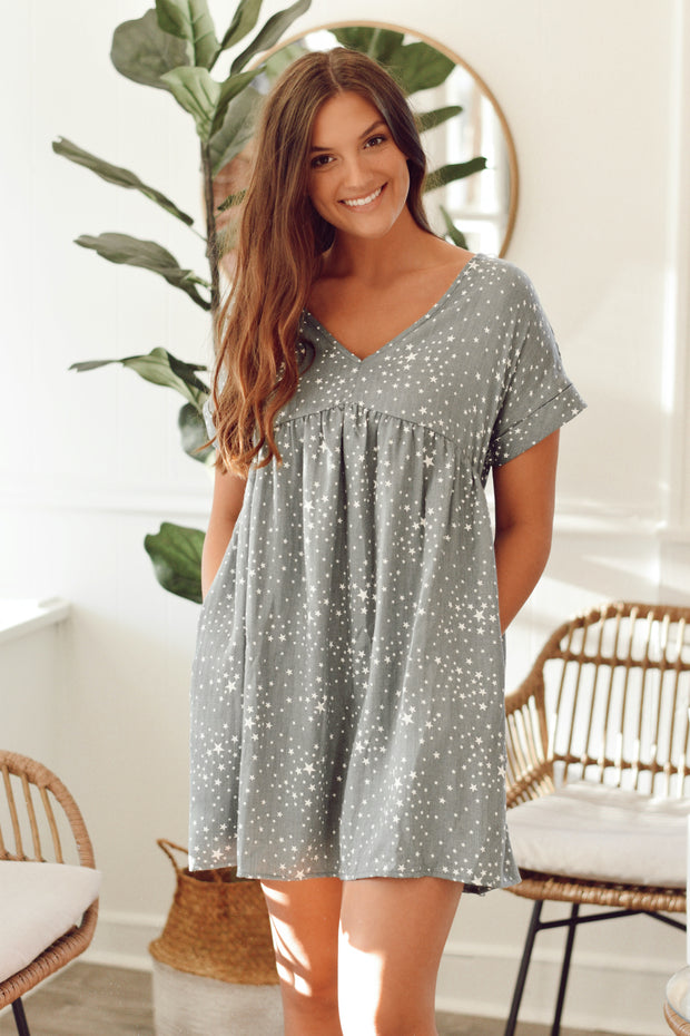 Star Babydoll Dress