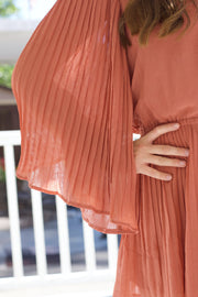Pleated Marsala Romper