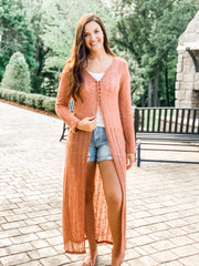 Mauve Summer Sweater Duster