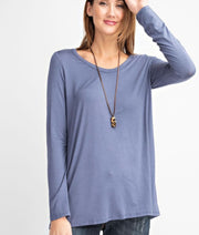 V-Neck Long Sleeve Basic Top